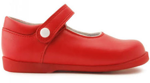 Start-rite Nancy Red Leather Mary Jane Rip Tape (F) Shoe