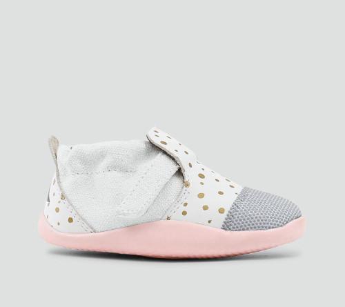 Bobux Xplorer White & Gold Dots Pre-Walker Shoes