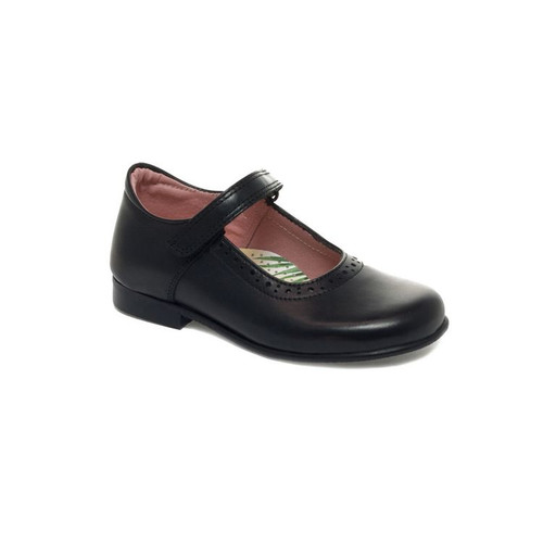 Petasil Tanya (E) Black Leather Shoe