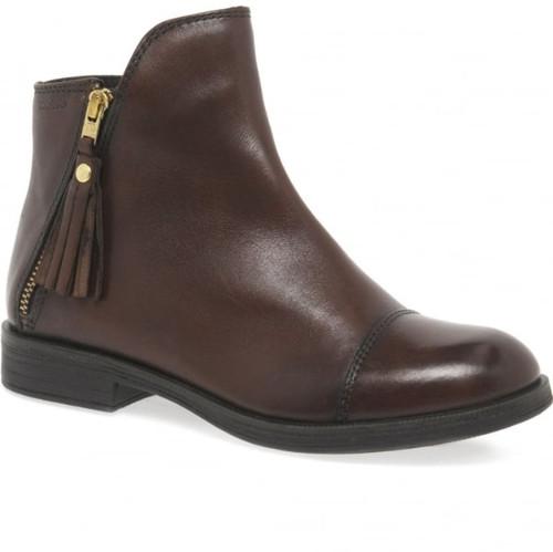 Geox Agata J Chestnut Zip Detail Ankle Boot