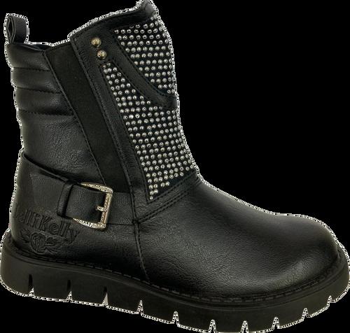 Lelli Black Black Girls Stud Detail Boot