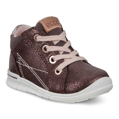 Ecco First Shale Simba Bronze Lace Ankle Boot