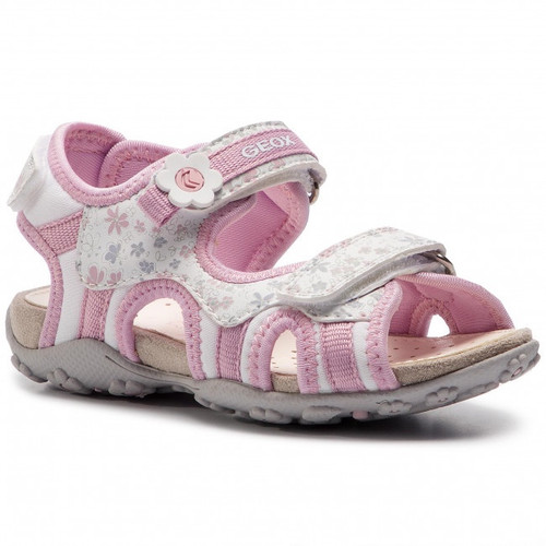 Geox Agasim White & Pink Open Toe Sandal
