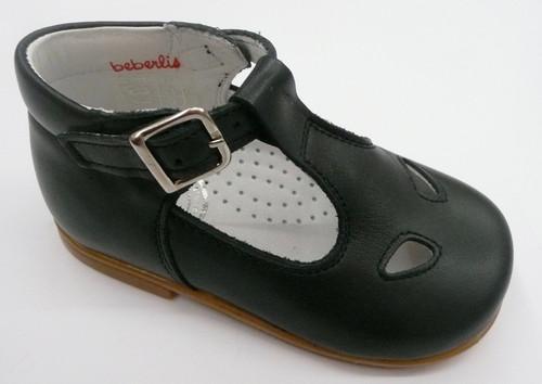 Beberlis Navy Leather Buckle Classic Shoe