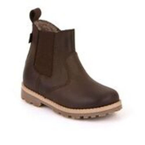 Froddo Brown Waxy Leather Chelsea Boot