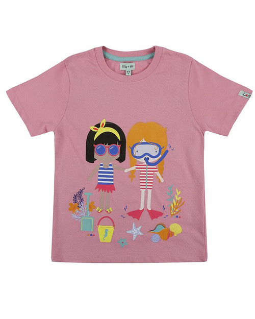 Lilly & Sid Pink Best Friends Top