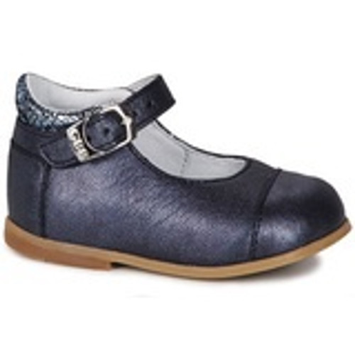 GBB Belisto Navy Pearlescent Leather Buckle Shoe