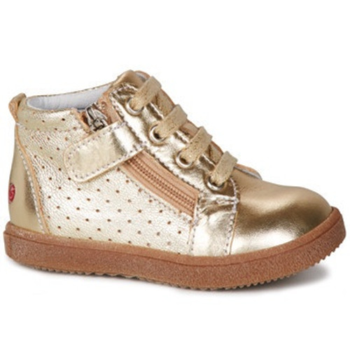 GBB Mimosa Gold Leather Lace Baseball Boot