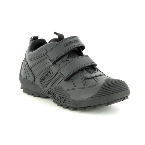 Geox Savage G Black Leather Shoe