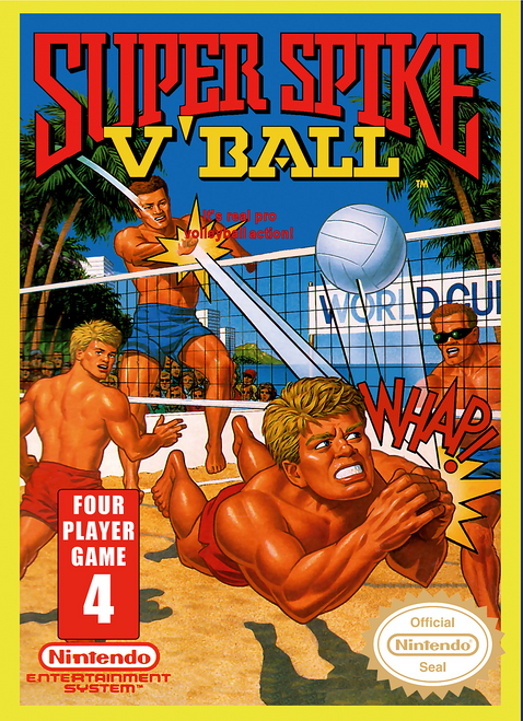 Super Spike Volleyball - NES - USED (INCOMPLETE)