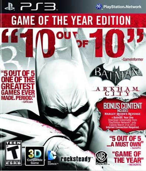 Batman: Arkham City - Game of the Year Edition - PS3 - USED