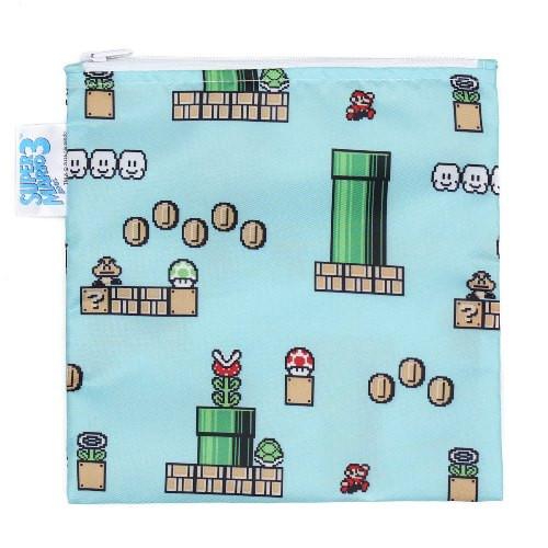 Bumkins Nintendo Super Mario Bros.3  Reusable Snack Bag