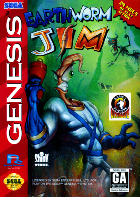 Earthworm Jim - Sega Genesis - USED - INCOMPLETE