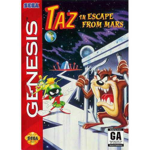 Taz in Escape From Mars - Sega Genesis - USED - INCOMPLETE