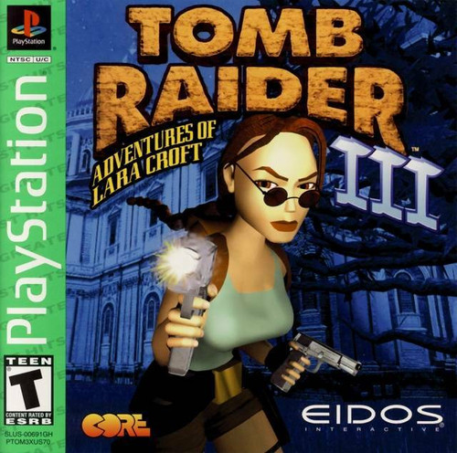 Tomb Raider III - Greatest Hits - PS1 - USED