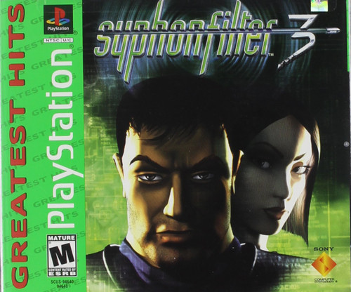 Syphon Filter 3 - Greatest Hits - PS1 - USED