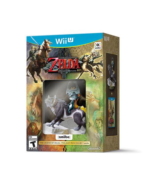 The Legend of Zelda: Twilight Princess HD + Wolf Link Amiibo - Wii-U - NEW