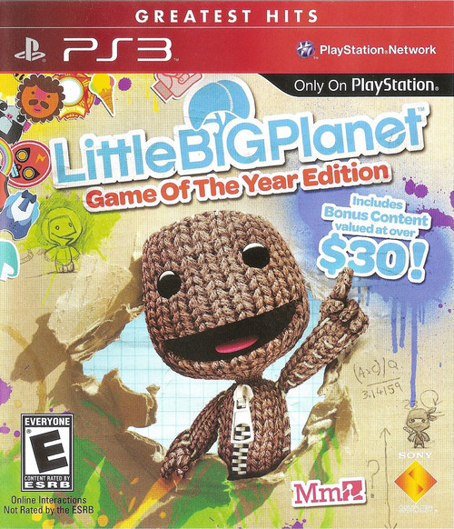 Little Big Planet - Game of the Year Edition - Greatest Hits - PS3 - USED