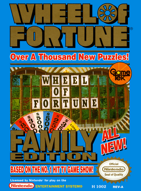 Wheel of Fortune: Family Edition - NES - USED (INCOMPLETE)