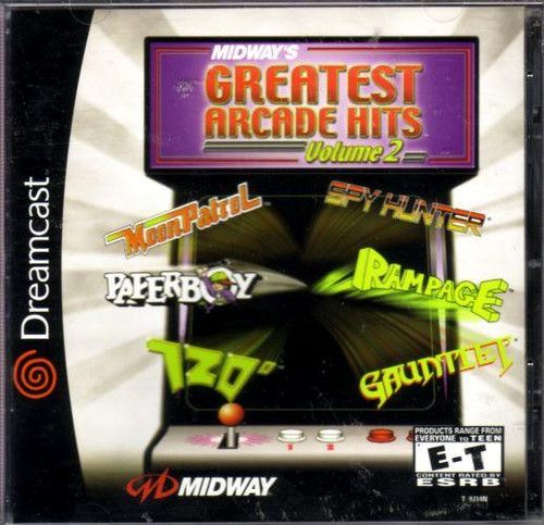 Midway's Greatest Arcade Hits Volume 2 - Dreamcast - USED