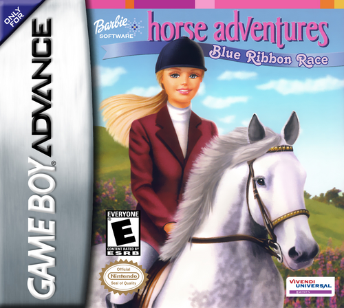 Barbie Horse Adventures Blue Ribbon Race - GBA - USED - INCOMPLETE