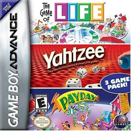 Life/Yahtzee/Payday - GBA - USED - INCOMPLETE