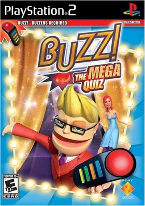 Buzz! - The Mega Quiz - PS2 - USED (GAME ONLY)