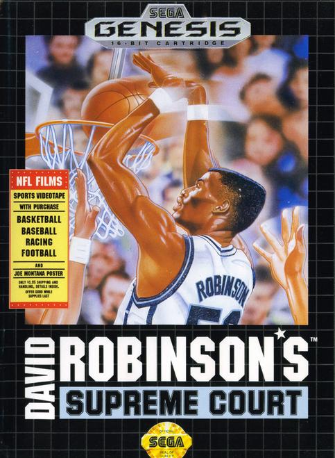 David Robinson's Supreme Court - Sega Genesis - USED (NO MANUAL)