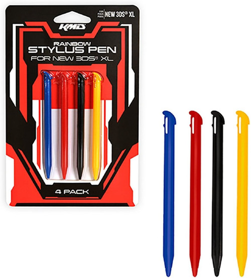 KMD Rainbow Stylus Pen Set For New Nintendo 3DS XL
