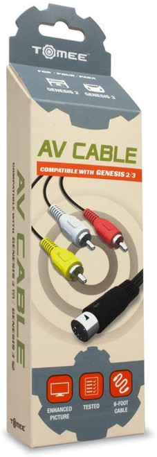 AV Cable for Genesis 2 and 3 by Tomee