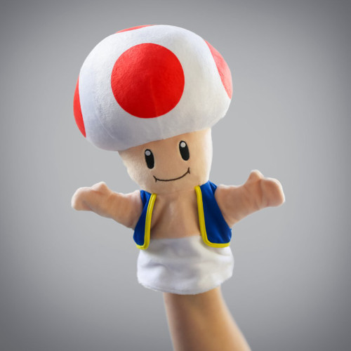 SMB Toad Plush Puppet