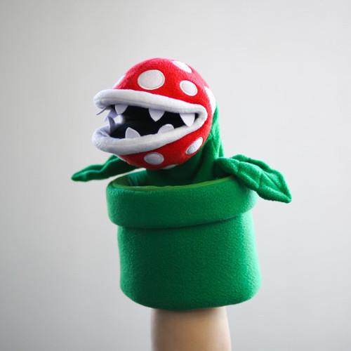 SMB Piranha Plant Puppet