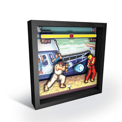 Street Fighter: Boat Scene Shadow Box Pixel Frame
