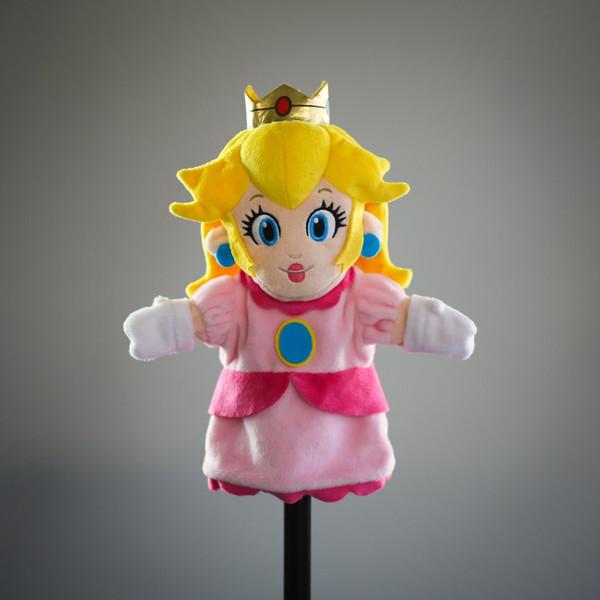SMB Princess Peach Plush Puppet