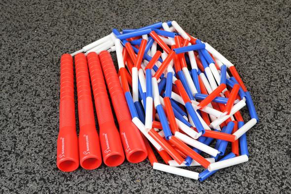 Double Dutch Long Handle Beaded Jump Rope (set)