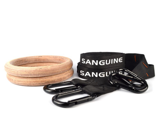 Gym Rings with Competition Straps 8ft