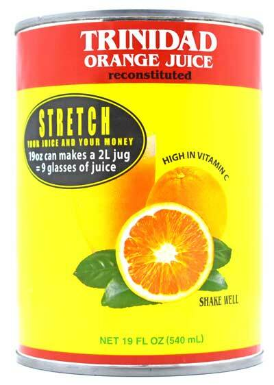 Trinidad Orange Juice Sweetened 19oz