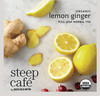 Steep Café Tea by Bigelow - Individually Wrapped Tea Bag: Herbal Tea - Organic Lemon Ginger