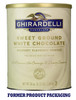Ghirardelli Sweet Ground Powder: White Chocolate Flavored - 3.12 lb. Can