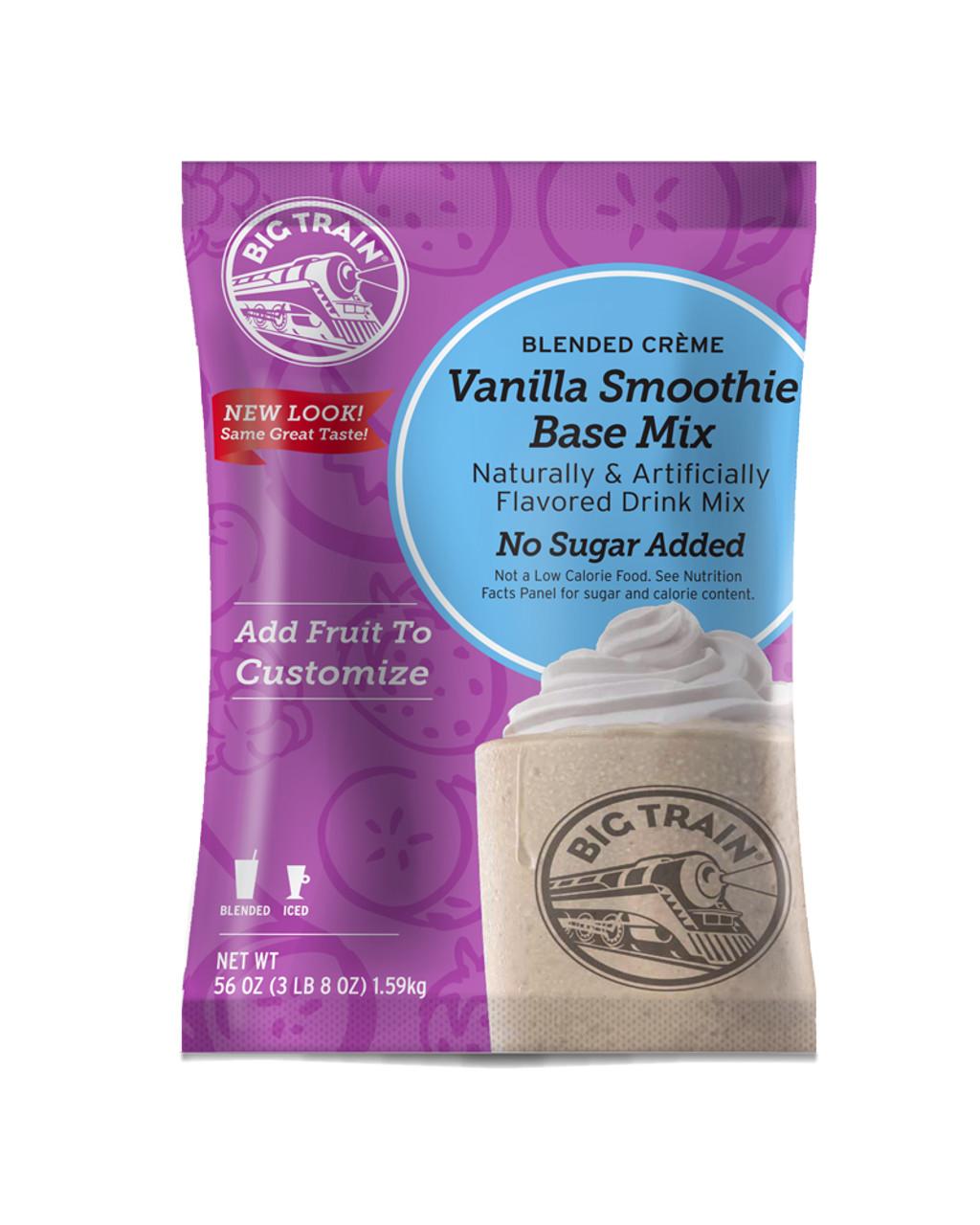 Big Train Vanilla No Sugar Added Smoothie Mix - 3 5 lb  Bulk Bag