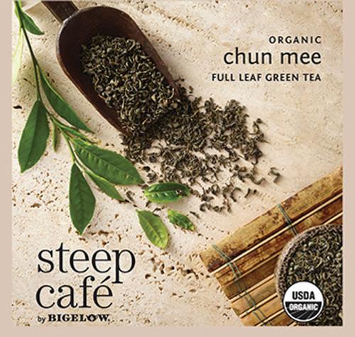 Steep Café Tea by Bigelow - Individually Wrapped Tea Bag: Green Tea - Organic Chun Mee