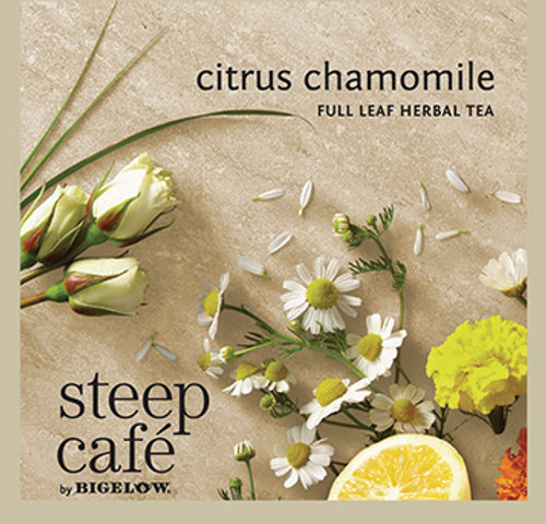 Steep Café Tea by Bigelow - Individually Wrapped Tea Bag: Herbal Tea - Citrus Chamomile