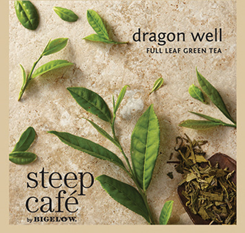 Steep Café Tea by Bigelow - Individually Wrapped Tea Bag: Green Tea - Dragon Well