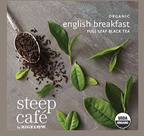 Steep Café Tea by Bigelow - Individually Wrapped Tea Bag: Black Tea - Organic English Breakfast
