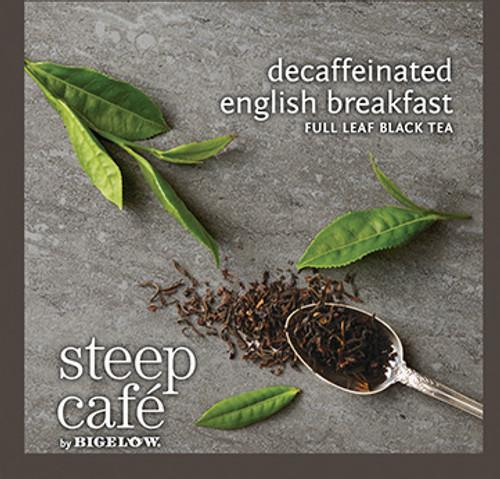Steep Café Tea by Bigelow - Individually Wrapped Tea Bag: Black Tea - Decaf English Breakfast