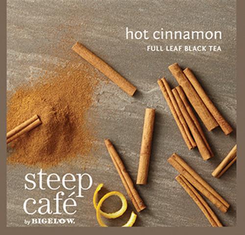 Steep Café Tea by Bigelow - Individually Wrapped Tea Bag: Flavored Tea - Hot Cinnamon