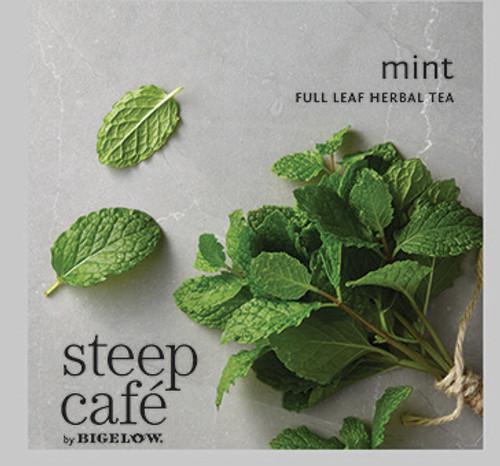 Steep Café Tea by Bigelow - Individually Wrapped Tea Bag: Herbal Tea - Mint