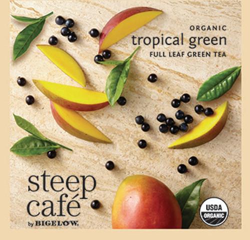 Steep Café Tea by Bigelow - Individually Wrapped Tea Bag: Green Tea - Organic Tropical