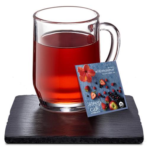 Steep Café Tea by Bigelow - Individually Wrapped Tea Bag: Herbal Tea - Organic Wild Encounter
