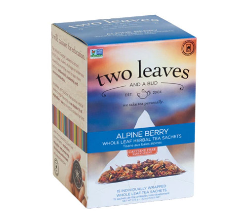 Two Leaves Tea - Box of 15 Tea Sachets: Alpine Berry